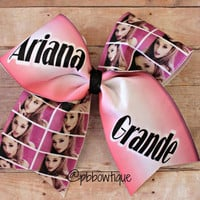 Artist: Ariana Grande Cheer Bow Soccer Bow or Softball Bow