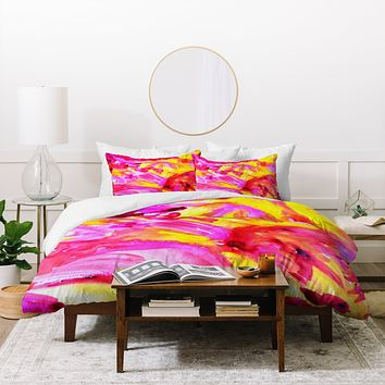 Allyson Johnson Strawberry Lemonade Duvet Cover