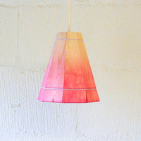 Pink Pendant Lamp Shade by FactoryTwentyOne on Etsy