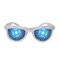 Solid Flip Up Diffraction Glasses