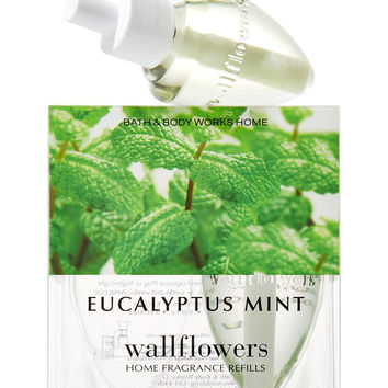 Bath & Body Works Wallflowers Home Fragrance Refill Bulbs 2 Pack Eucalyptus Mint