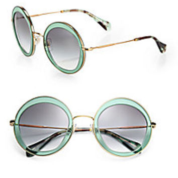 Miu Miu - 52mm Round Sunglasses - Saks Fifth Avenue Mobile