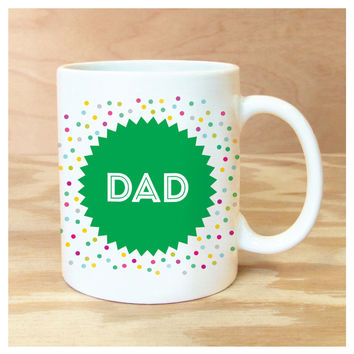 ROCK SCISSOR PAPER DAD BADGE MUG
