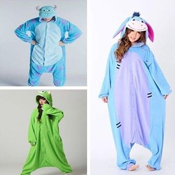 New Adult  Spyro Dragon Animal Monsters University Mike Wazowski&Sulley Onesuits Pyjamas  Anime Cosplay Costume Onesuit Sleepwear