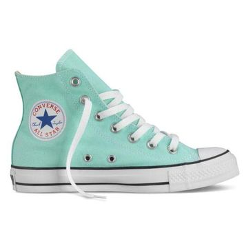 Kalete Converse Fashion Women Men Casual High Help Canvas Flats Sport Running Shoes Sneakers Mint Green I