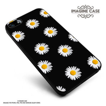 Daisy Flower Pattern Cute Yellow Tumblr Black case cover for iphone, ipod, ipad and galaxy series