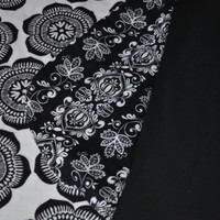Reversible Baby Car Seat Canopy and Blanket - Black and white damask *ON SALE*