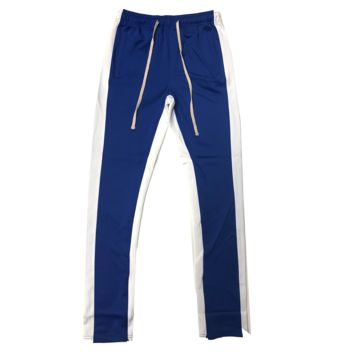Royal/White Track Pants