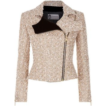 Lanvin Metallic Tweed Biker Jacket | Harrods.com