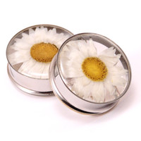 Embedded Thousand Needles Daisy Flower Resin Plugs