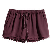 Shorts with Lace Trim - from H&M