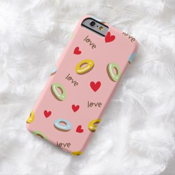 Claire Blossom Colorful doughnut light pink Barely There iPhone 6 Case