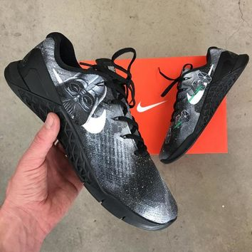 Custom Painted Star Wars Theme Nike Metcon 3 - Darth Vader and Tie Fighters