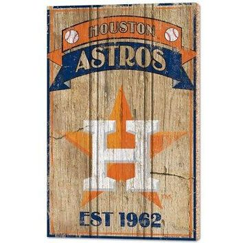 "HOUSTON ASTROS EST 1962 VINTAGE WOOD SIGN 15""X24'' BRAND NEW WINCRAFT"