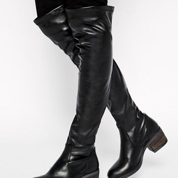 ALDO | ALDO Elealla Block Heel Over The Knee Boots at ASOS
