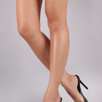 Clear Strap Open Toe Pointed Stiletto Heel