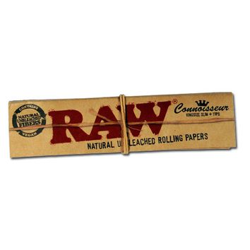 RAW Connoisseur King Size Slim Hemp Rolling Papers With Filter Tips - Single Pack
