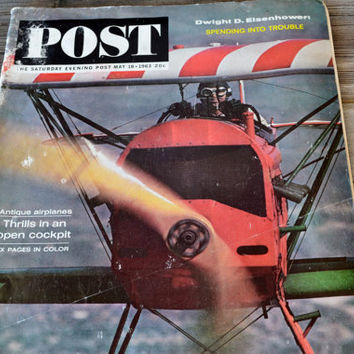 The Saturday Evening Post May 18, 1963 Antique Airplanes
