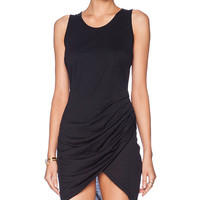 SKINGRAFT Draped Tank Dress in Black
