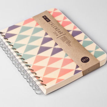 2015 Year Weekly Planner Calendar Diary Day Spiral A5 Triangle Geometric Autumn - October 2 October ver. available!