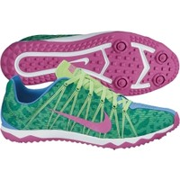 Nike Women's Zoom Rival Waffle Track and Field Shoe - Green/Purple | DICK'S Sporting Goods