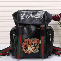 Perfect  Gucci Women Men Leather Shoulder Bag Travel Bag Backpack