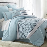 Arizona 8-Piece Modern Embroidered Down Alternative Comforter Set