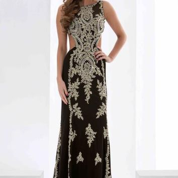Jasz Couture Lace Fitted Dress 5600