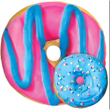 iScream Blue and Pink Donut Scented Pillow