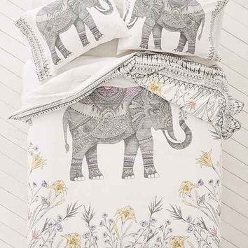 Magical Thinking Garden Elephant Duvet Cover