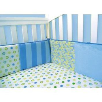 Dr. Seuss Oh, the Places You'll Go! Blue Crib Bumpers
