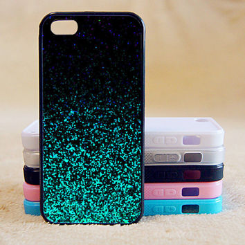 Sparking Blue Glitter(Not Actual Glitter), iPhone 4/4s/5/5s/5C, Samsung Galaxy S2/S3/S4/S5/Note 2/3, Htc One S/M7/M8, Moto G/X