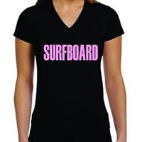 SURFBOARD BEYONCE LADIES V NECK T-SHIRT FREE SHIPPING