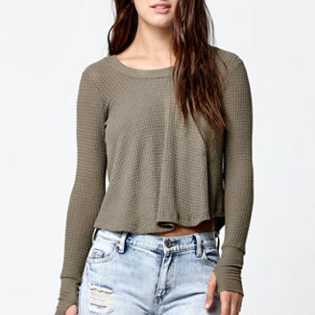 LA Hearts Thermal Long Sleeve Swing Top at PacSun.com