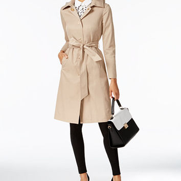 Anne Klein Belted Trench Coat - Coats - Women - Macy's