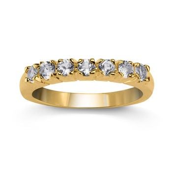 Genuine White Topaz Stackable Band Ring