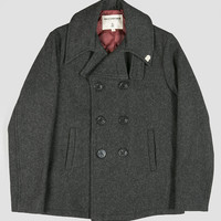 Fidelity USN Quilted Pea Coat Jacket Charcoal