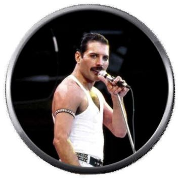 Freddie Mercury Rocks Queen Band Rock And Roll Hall Of Fame Musicians 18MM - 20MM Fashion Snap Jewelry Snap Charm