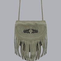 Desert Wanderer Leather Bag - Olive - Accessories | GYPSY WARRIOR