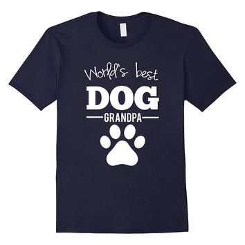 Men's World's Best Dog Grandpa T-Shirt Gift