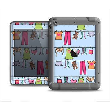 The Neon Clothes Line Pattern Apple iPad Air LifeProof Nuud Case Skin Set