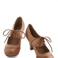 ModCloth Vintage Inspired The Best of Times Heel in Caramel