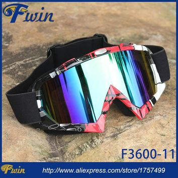 Newest MX Off Road Helmets Colorful lens Racing Goggles Sport Motorcycle Gafas Motocross Glasses Motorbike goggles