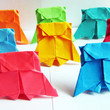 10 Origami Paper Owls in Rainbow Multicolor - Great for Parties / Birthdays / Weddings Decor