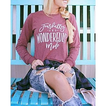 Fearfully and Wonderfully Made Long Sleeve (Z-2)
