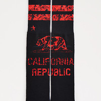 Red Rose Cali Republic Crew Socks