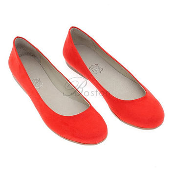 Red vegan leather ballet flats! Bridal shoes, Bridesmaid shoes, Prom shoes Boho chic womens flats, womens slip ons, Womens shoes, light