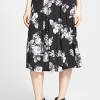 Junior Women's Living Doll Floral Foldover Midi Skirt,