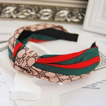 DCC3W GUCCI Cloth Leather U Band Hair Hoop Headband Hoop-5