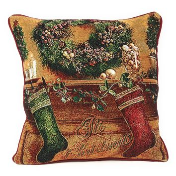 Tache New 16 X 16 Inch Festive Christmas Hung With Care Cushion Cover
